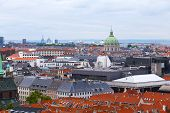 Roof tops of Copenhagen Denmark.