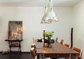 interior modern house, beautiful decor, dining room