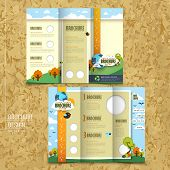 Tri-fold Template Brochure For Environmental Concept