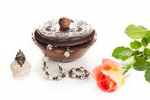 Jewelry With Box And Rose