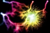 Electric Colorful Lighting Effect, Abstract Backgrounds