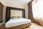 PRAGUE - MAY 9: Room in Eurostars Thalia Hotel on May 9, 2014 in Prague, Czech Republic. Eurostars T