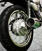 Vintage Motorcycle Abstract Line Background