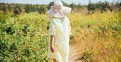 Woman walking on nature