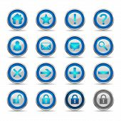 Shiny Blue Icons - Set 1 - Web