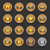 Shiny Orange Icons - Set 1 - Web