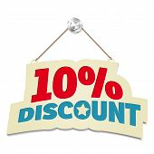 Hanging Sign With Inscription 10% Discount