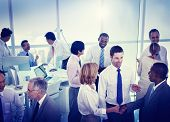 Group of Business People Working in an Office