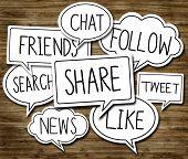 Social Network Concepts in Speech Bubbles