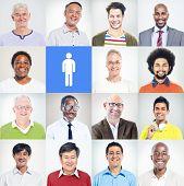 Group of Multiethnic Diverse Confident Men