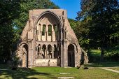 stock photo of bonnes  - Ruins of Heisterbach Abbey in Germany  - JPG