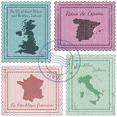 Постер, плакат: Postal Stamps 2