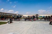 Horse carts at Imam square