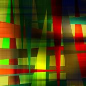 art abstract geometric textured colorful background in gold, green and red colors