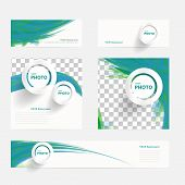 Vector brochure with circles and wave