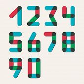 Numbers set modern style. Icons. Vector illustration.