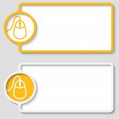Set Of Two Abstract Text Frame With Mouse Icon