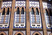 Facade Of The Monumental Bullring In Barcelona
