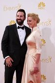 LOS ANGELES - AUG 25:  Josh Kelley, Katherine Heigl at the 2014 Primetime Emmy Awards - Arrivals at