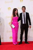 LOS ANGELES - AUG 25:  Zooey Deschanel, Jacob Pechenik at the 2014 Primetime Emmy Awards - Arrivals