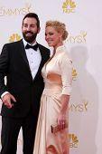 LOS ANGELES - AUG 25:  Josh Kelley, Katherine Heigl at the 2014 Primetime Emmy Awards - Arrivals at