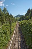 Single track railway