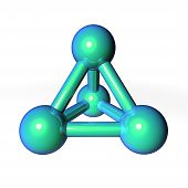 Molecule Structure Metallic Green-blue