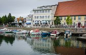 The seaside resort of Warnemunde, Germany