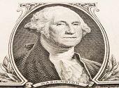 George Washington on the one dollar note