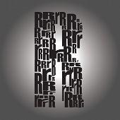 Letter R. Vector Illustration