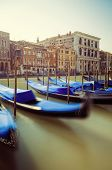 Venetian gondolas in Grand Canal