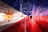 Flag Of Philippines Wavy Copyright Law