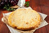 Ossetian Pie with Cheese on Parchment