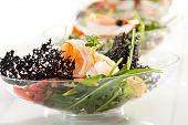 Buffet Seafood Salad on White Dish