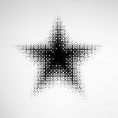 stock photo of star shape  - Halftone Star with square shape dots - JPG