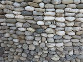 Pattern Of Decorative Round Stone Wall Surface
