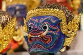 Thai Traditional Mask, used in Khon - Traditional dance of the Ramayana Saga