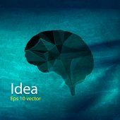 brain polygon idea, easy all editable