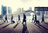 Business People Travel Cruise Ship Trip Journey Concept