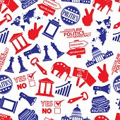 Politics Red And Blue Seamless Pattern Eps10