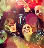 picture of dancing  - Group of young people having fun dancing at party - JPG