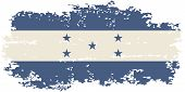 Honduras grunge flag. Vector illustration.