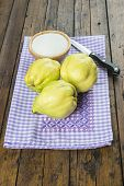Quinces And Sugar On The Kitchen Table