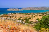 Постер, плакат: Turquise water of Mirabello bay on Crete Greece