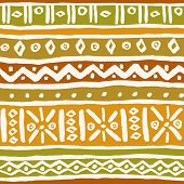 Ethnic Traditional Colorful Geometric Pattern. Set With Different Hand Drawn Ornamental Elements. Te