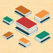 Vector illustration with isometric books