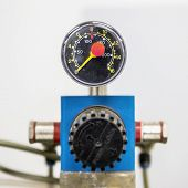 foto of manometer  - Manometer on pharmaceutical industry or chemical plant