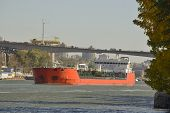 Cargo Ships On The River Don In Rostov-on-don