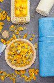 Herbal bath tea calendula