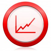 chart icon stock sign